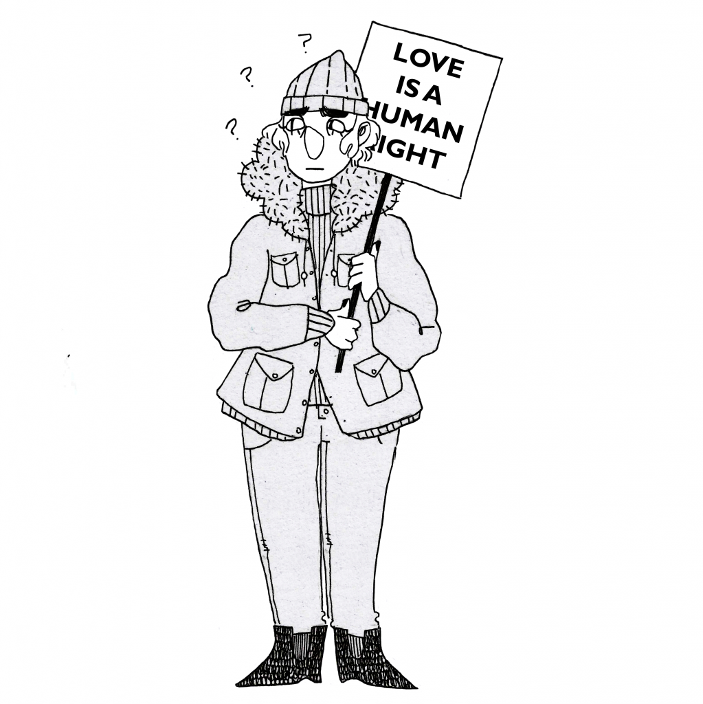Protestor for equal rights